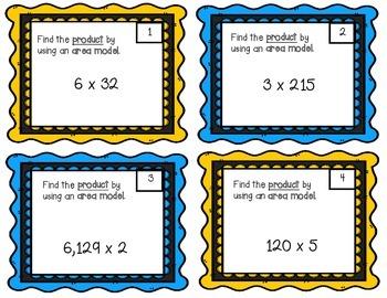 Multiplication- Area Model Task Cards