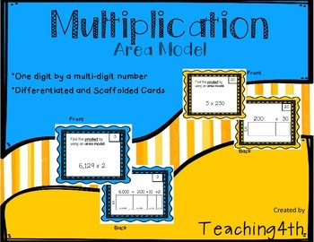 Multiplication- Area Model Task Cards