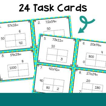 Multiplication Area Model Task Cards