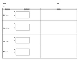Multiplication Area Model tiered worksheets