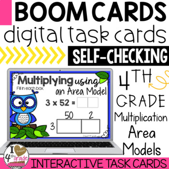 Multiplication Area Models Boom Cards