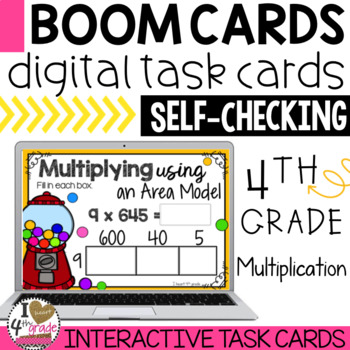 Multiplication Area Models Boom Cards By I HEART 4th Grade TpT