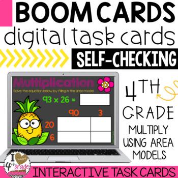 Multiplication Area Models Boom Cards