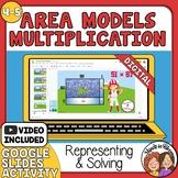 Multiplication Area Models  - Google Slides - multiplying double digit numbers