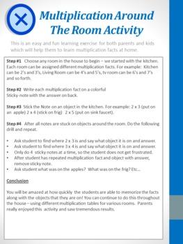 Multiplication Around The Room Activity