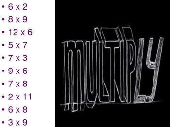 Multiplication - Around the World