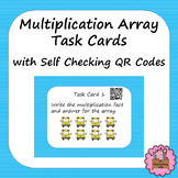 Multiplication Array Task Cards with Self Checking QR Codes