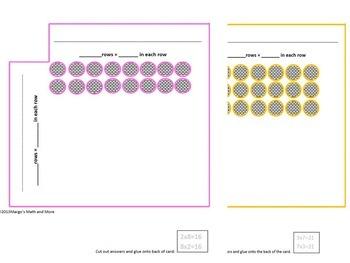 Multiplication Array Cards for Concept, Understanding, and Memorizing Set I