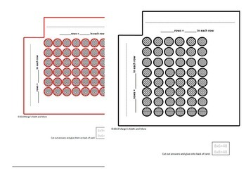 Multiplication Array Cards for Concept, Understanding, and Memorizing Set II