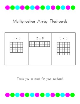 Multiplication Array Flashcards