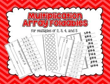 Multiplication Array Foldable Set