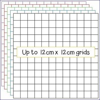 Multiplication Array Grids - Clipart