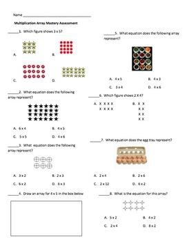 Multiplication Array Mastery Assessment