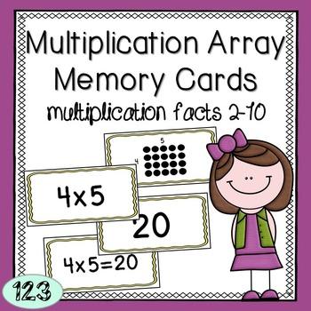 Multiplication Array Memory Games