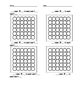 Multiplication - Array Practice