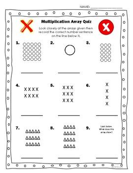 Multiplication Array Quiz