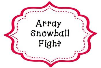 Multiplication Array Snowball Fight
