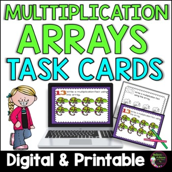 Multiplication Array Task Cards (Colorful Theme)