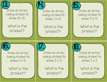 Multiplication Array Task Cards