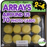 Distance Learning Arrays Real Life Picture Cards of Arrays 3.OA.3