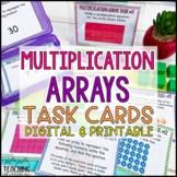 Multiplication Array Task Cards | Distance Learning | Google Classroom