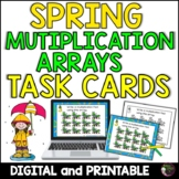 Multiplication Array Task Cards- Spring Theme