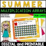 Multiplication Array Task Cards- Summer Theme