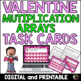 Multiplication Array Task Cards- Valentine's Day Theme