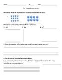 Multiplication Array Worksheet