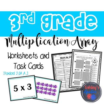 Multiplication Array Worksheet Teaching Resources | Teachers Pay ...