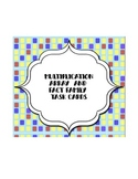 Multiplication Array and Fact Family Task Cards - 30 total task cards