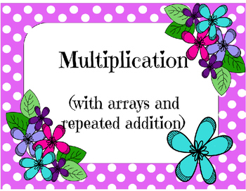 Multiplication Array's and repeated Addition Puzzles