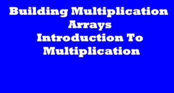 Multiplication Arrays Smart Board Activity
