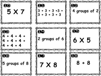 Multiplication Arrays & SCOOT