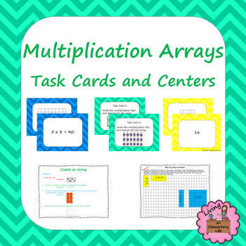 Multiplication Arrays - Task Cards and Centers