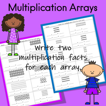 multiplication arrays worksheets teaching resources  teachers pay  multiplication arrays worksheets multiplication arrays worksheets