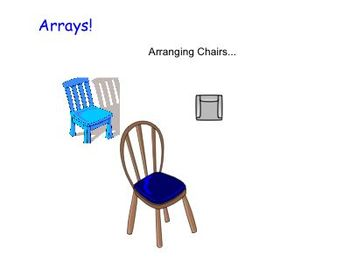 Multiplication Arrays: Arranging Chairs (CCSS Aligned/Differentiation)