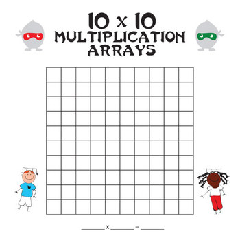 Multiplication Arrays (Blank) up to 10x10