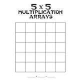 Multiplication Arrays (Blank) up to 5x5