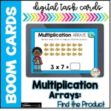 Multiplication Arrays| Boom Cards |Distance Learning
