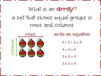 Multiplication Arrays {Christmas Activities & Centers}