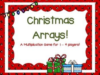 Multiplication Arrays - Christmas Theme