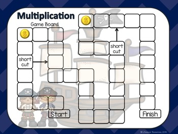 Multiplication Game - Arrays with Printable Worksheets