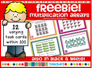 Multiplication Arrays FREEBIE