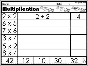 Multiplication/Arrays Freebie
