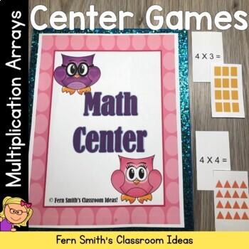 Multiplication Arrays Math Centers