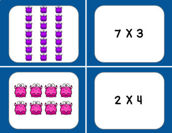 Multiplication Arrays Matching Cards