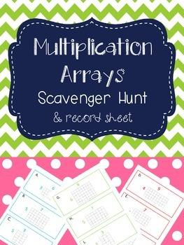 Multiplication Arrays Scavenger Hunt