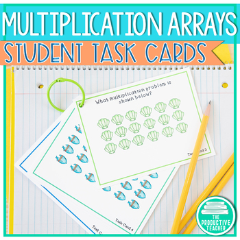 Multiplication Arrays: Task Cards