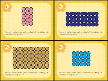 Multiplication Arrays Task Cards